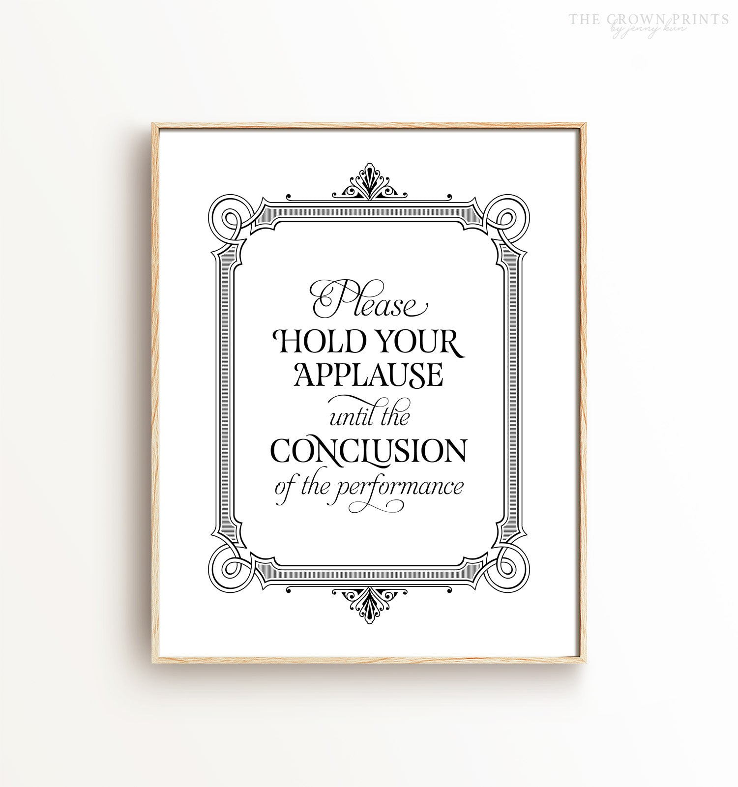 Please Hold Your Applause Bathroom Printable Art