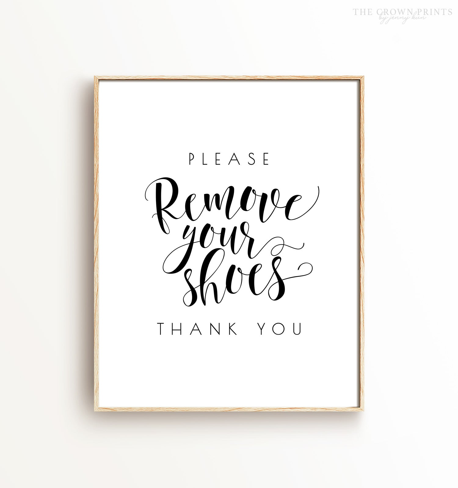 Please Remove Your Shoes Printable Art