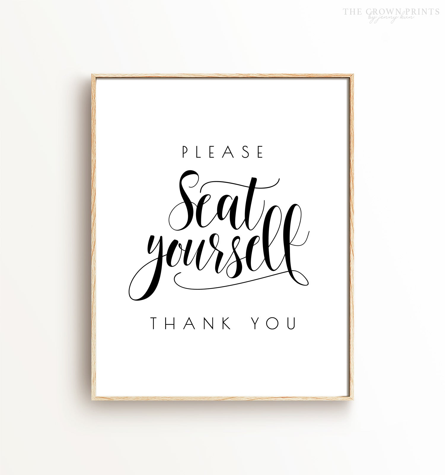 Please Seat Yourself Bathroom Printable Art
