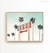 Retro Motel and Palms - horizontal wall art Printable Art