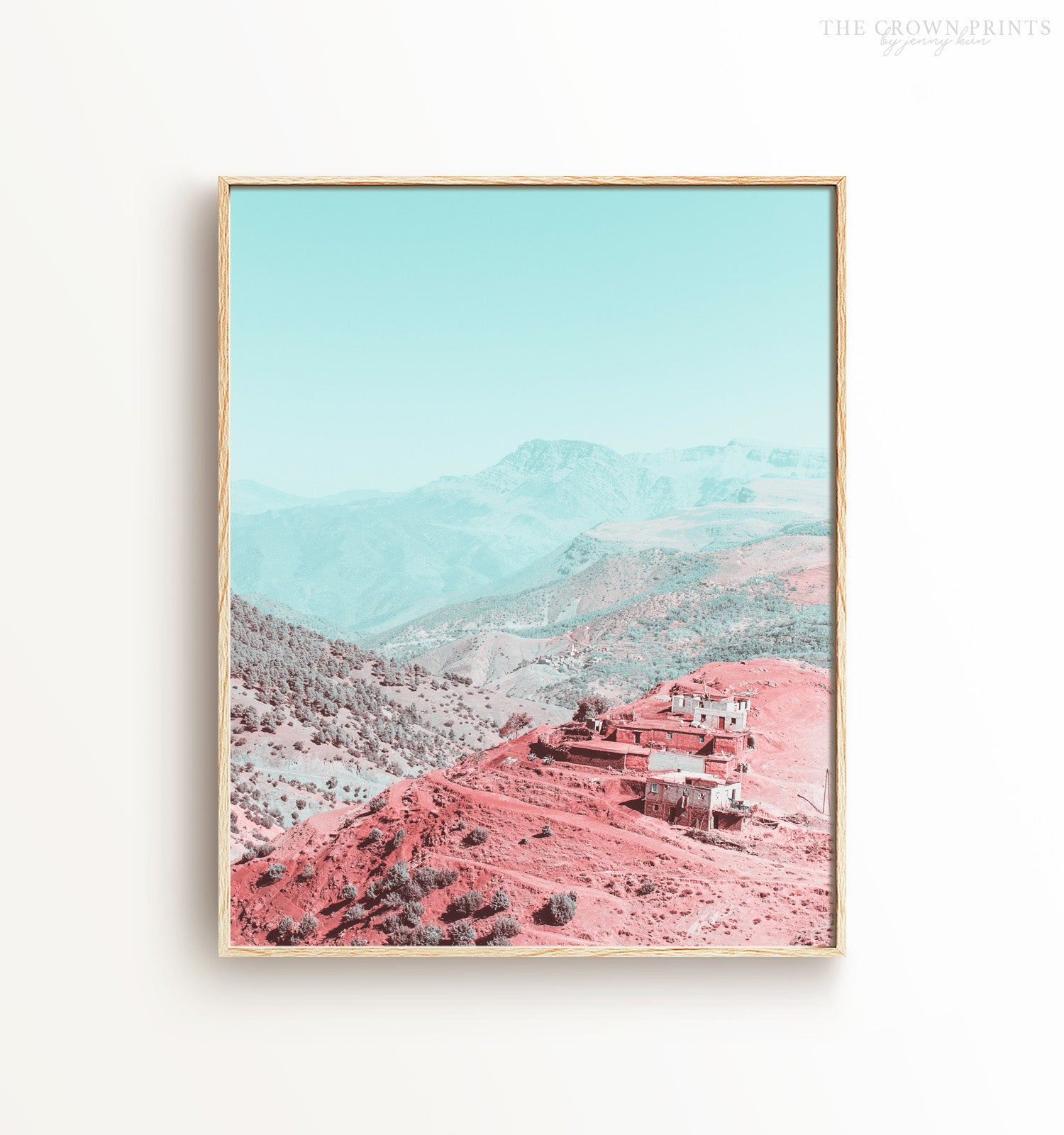 Scenes from Morocco No. 2 - Atlas Mountains Printable Art