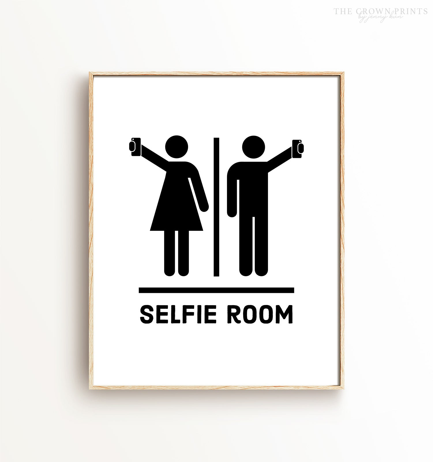 Selfie Room Bathroom Printable Art