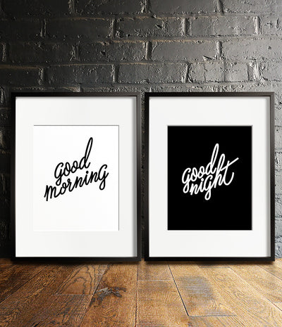 Good Morning / Good Night Print Set - The Crown Prints