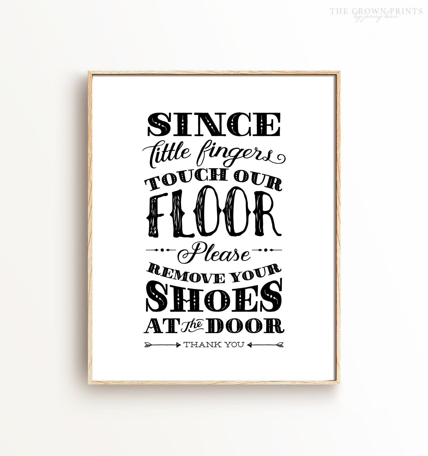 Since little fingers touch this floor print