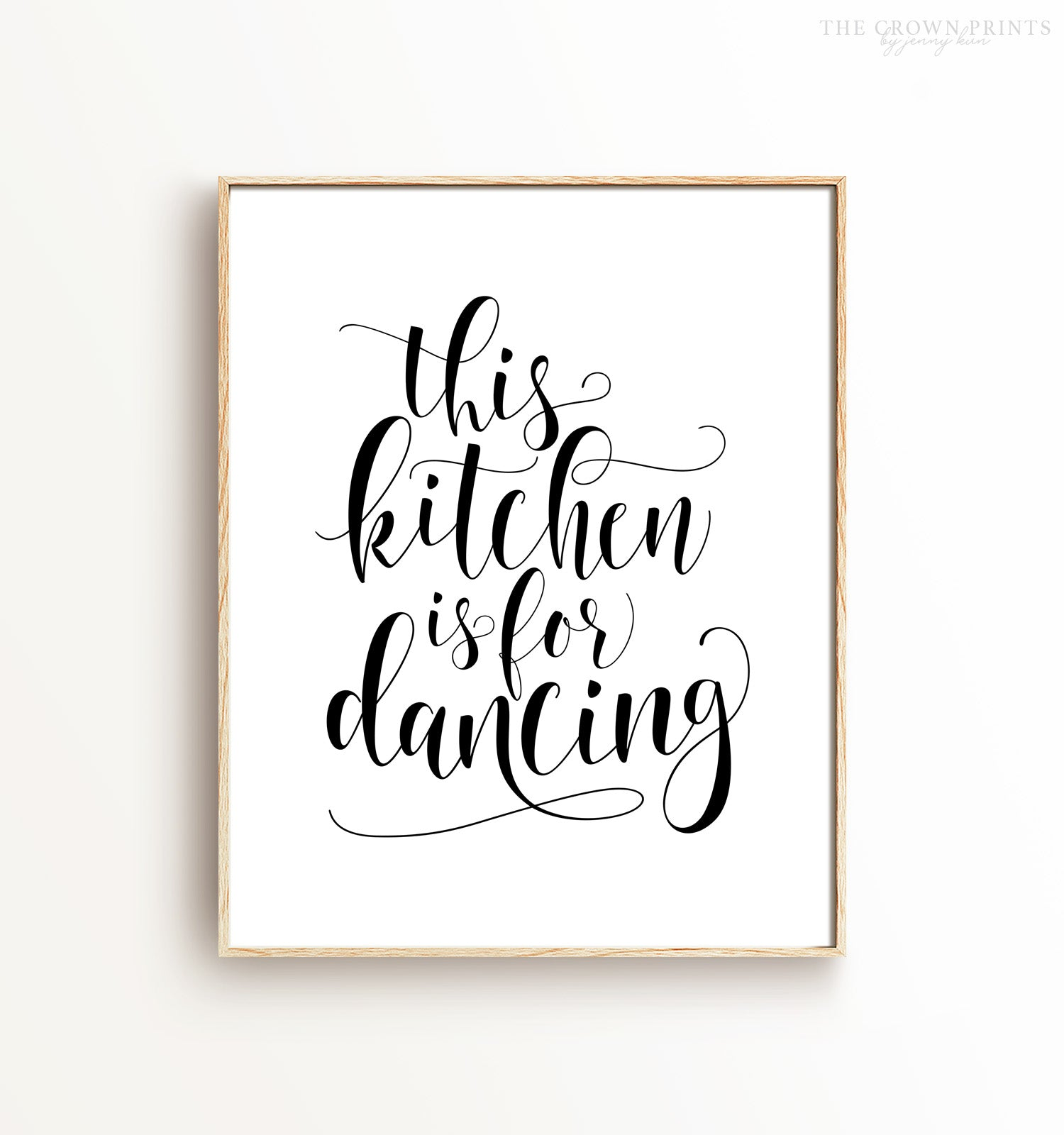graphic relating to Printable Artwork named This kitchen area is for dancing Printable Artwork