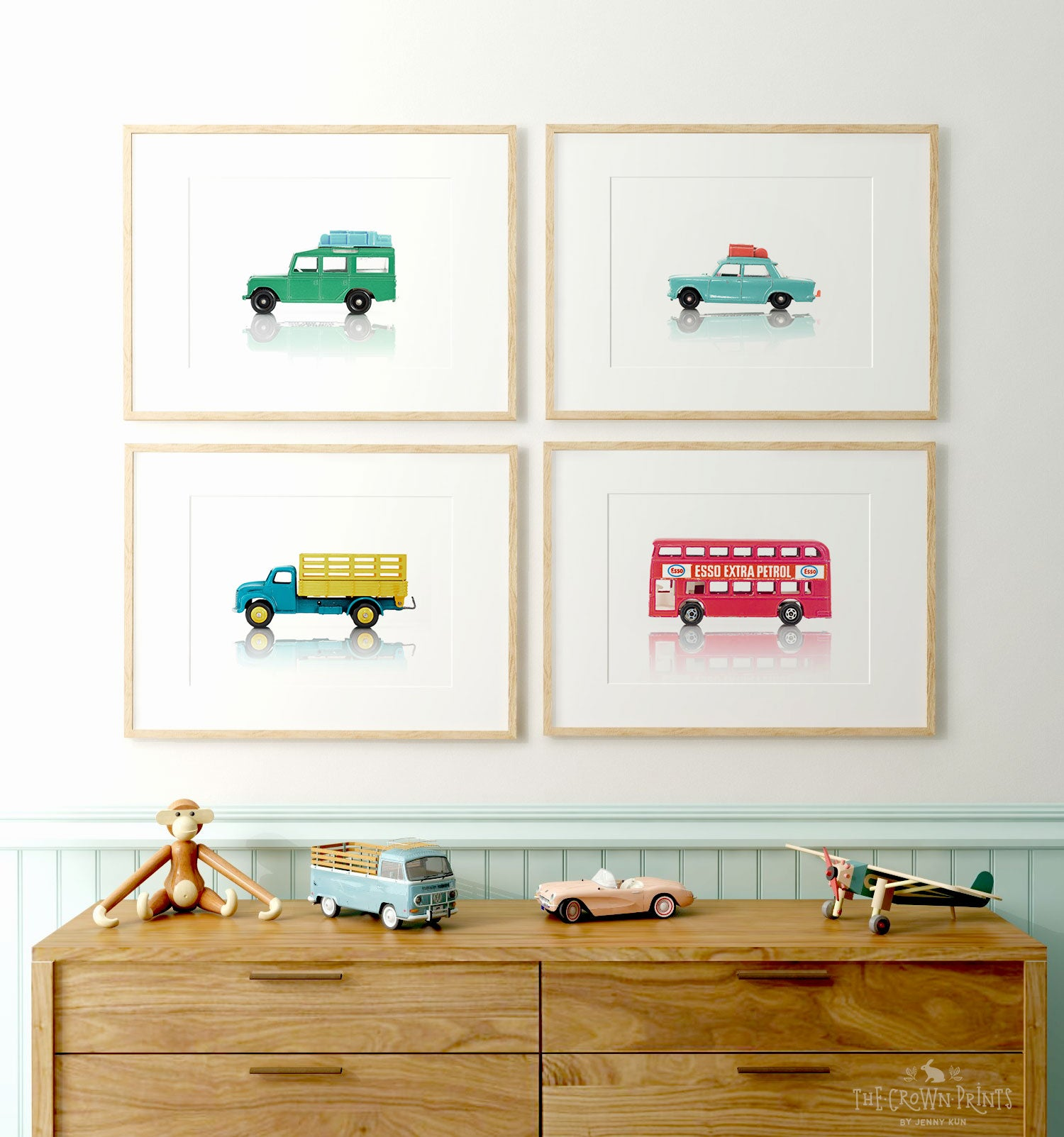 Toy Cars Prints - Set of 4 - Printable Art