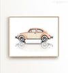 Vintage VW Beetle Printable Art