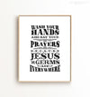 Wash your hands and say your prayers Printable Art No. 2