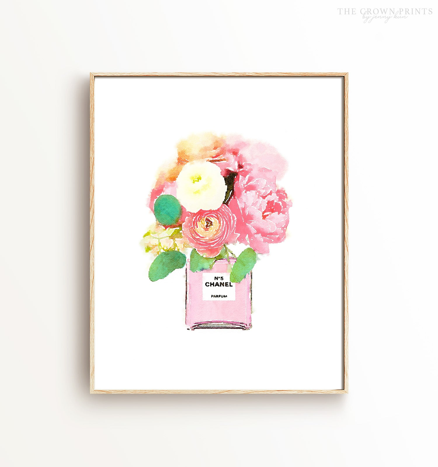 graphic about Watercolor Printable named Watercolor Chanel Floral Printable Artwork