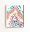 Watercolor pastel agate Printable Art