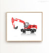 Wheel Excavator Printable Art