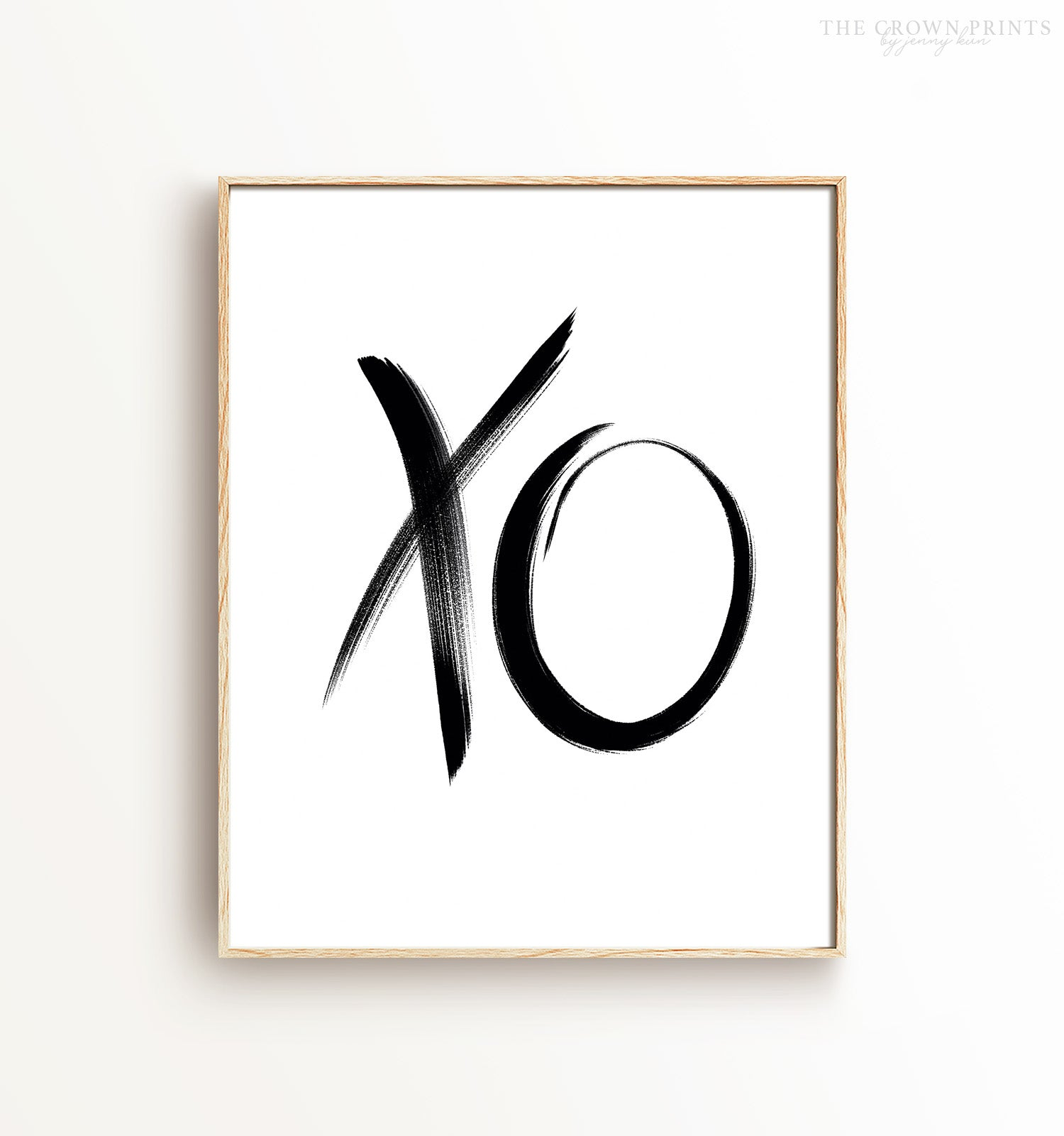 XO Brushstroke Printable Art