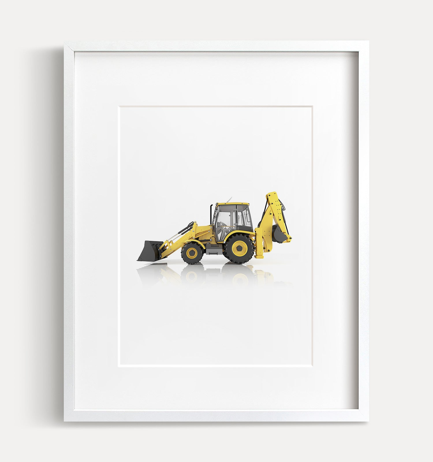 Backhoe Printable Art - Vertical