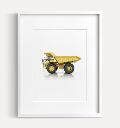 Off-Highway Truck Printable Art - Vertical