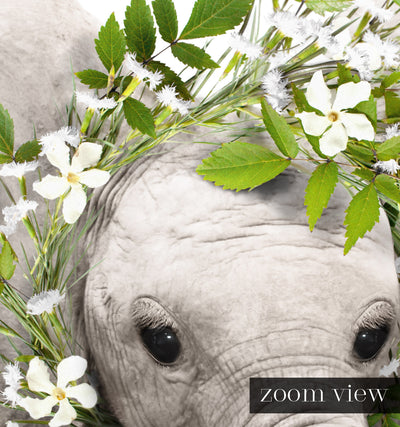 Baby Elephant No. 2 with Flower Crown Printable Art
