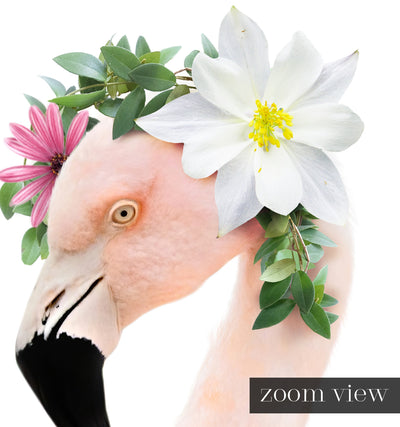 Baby Flamingo with Flower Crown Printable Art