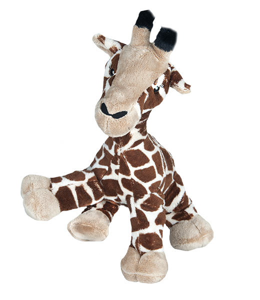 16 Inch Gerry The Giraffe Heartbeat Animal With Sound Recorder