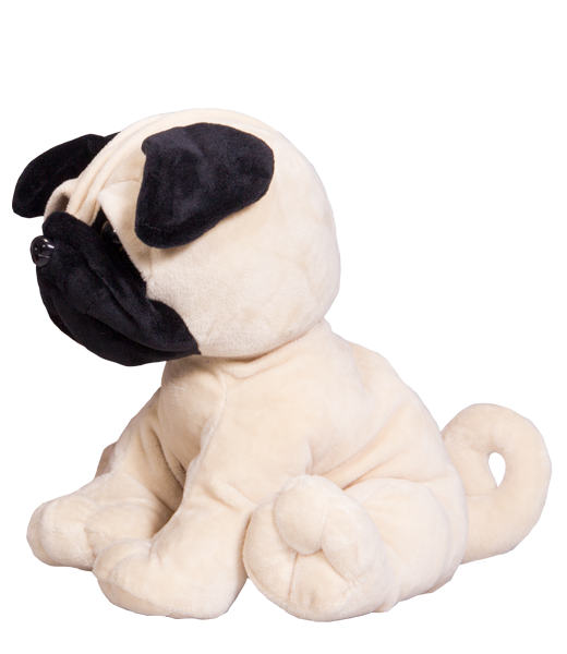 16 Inch New Petunia The Pug Heartbeat Animal With Sound Recorder
