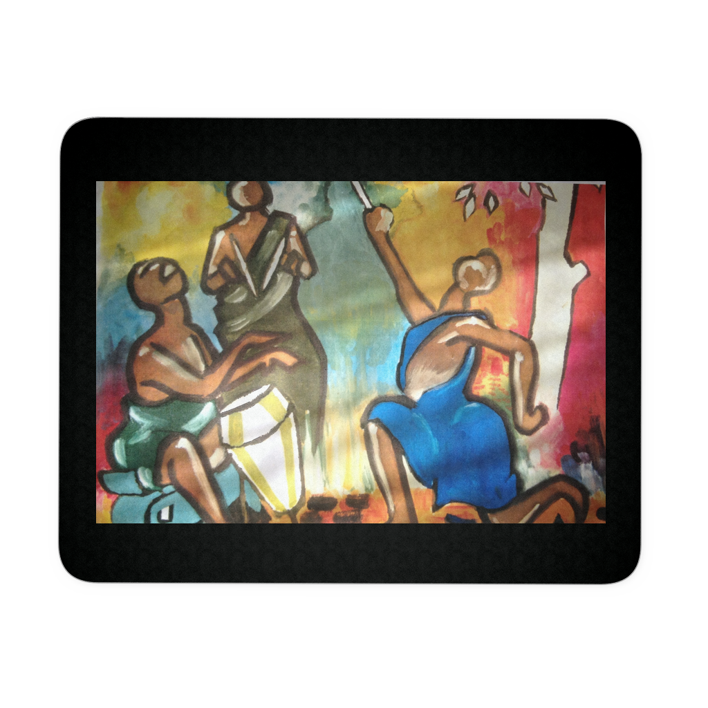 "Drummer Soul Mouse Pad- 9.25"" x 7.75"" - CoLyfeRaw Beauty"