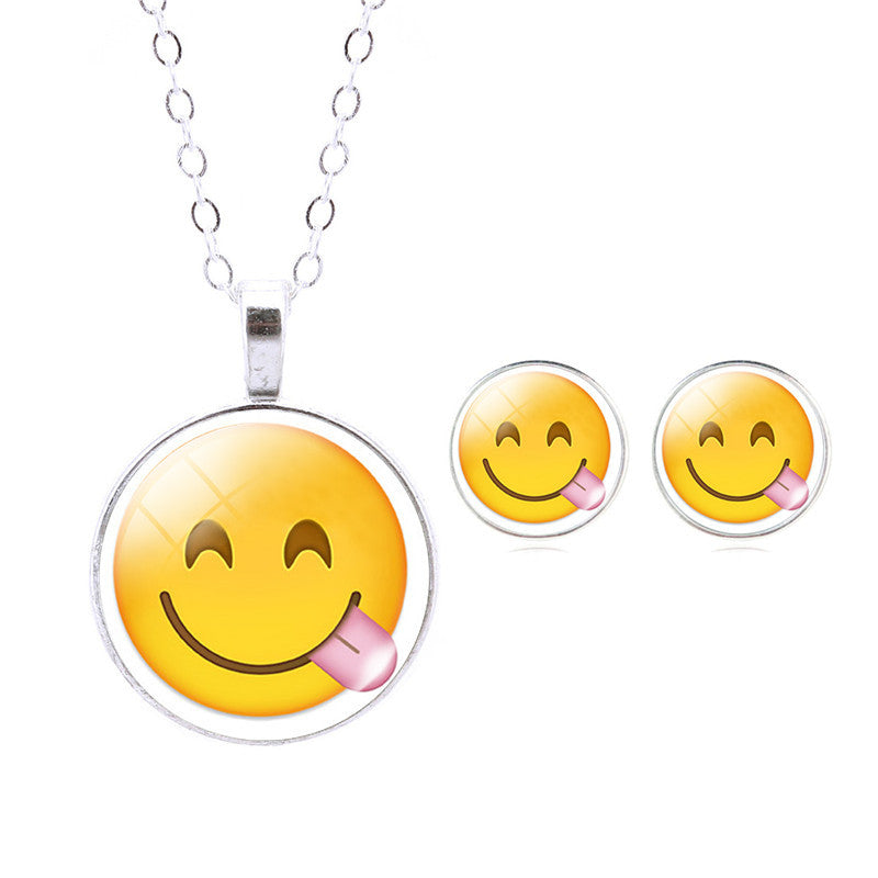 Emoji Jewelry- Emoji NECKLACE AND EARRINGS Set- FREE! - CoLyfeRaw Beauty