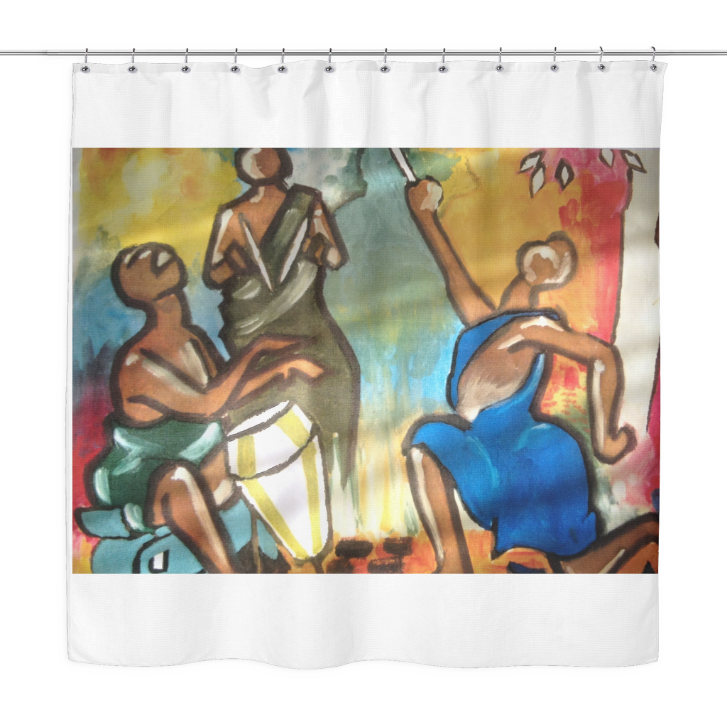 "Drummer Soul- Designer Shower Curtains- 70"" x 70"" - CoLyfeRaw Beauty"
