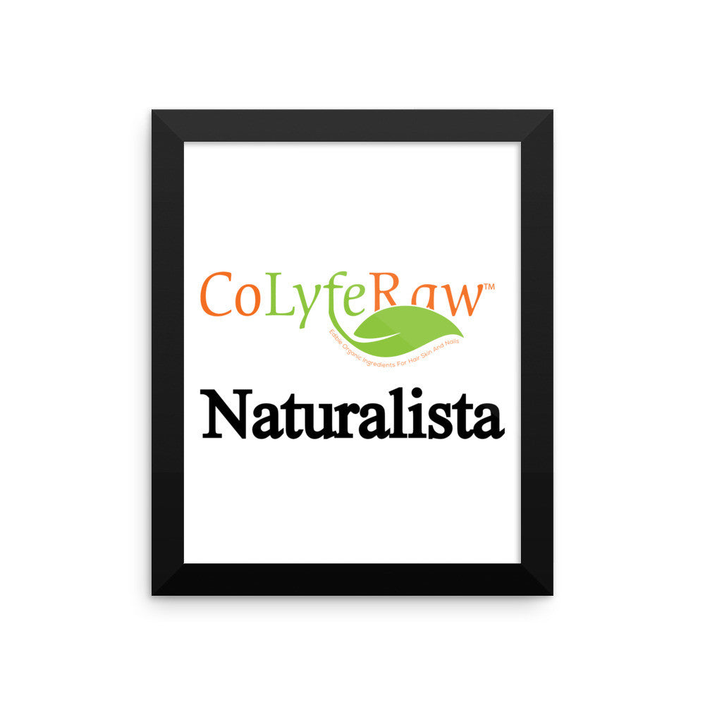 "Framed Photo Paper Poster 8""x10"" - 16""x16"" Naturalista - CoLyfeRaw Beauty"