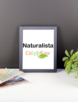 "Framed Poster 8""x10"" - 16""x16"" Naturalista - CoLyfeRaw Beauty"