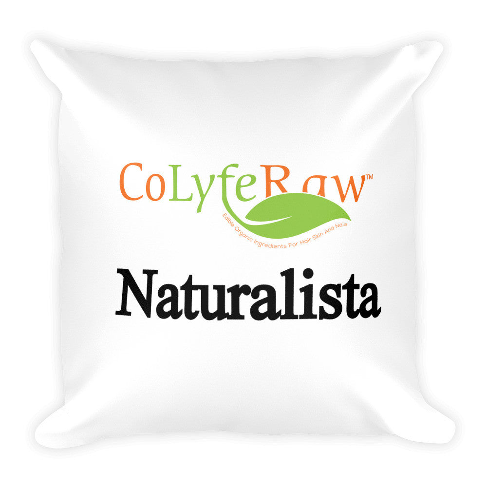 Square Pillow - Black Stitching 18x18- Naturalista - CoLyfeRaw Beauty