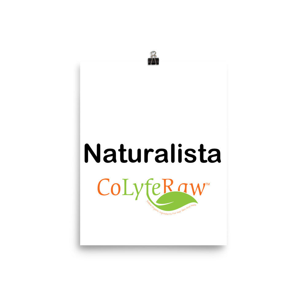 Poster - Museum Quality Matte Paper 8x10 x 24x36 Naturalista - CoLyfeRaw Beauty