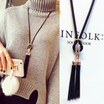 Arrival Female Pendant Necklace Tassel Long Winter - CoLyfeRaw Beauty
