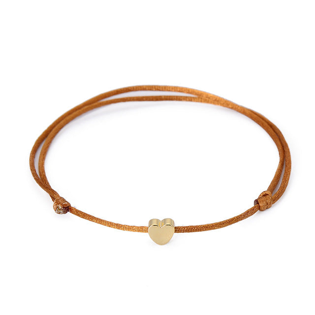 Gold Color Heart Bracelet Silver Handmade Jewelry - CoLyfeRaw Beauty