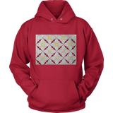 Hoodie- Unique Starburst Art Block Hoodie- Get Warm ON THE BLOCK
