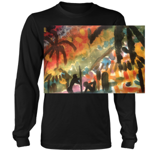 "Long Sleeve TShirt - ""Au Naturelle in The Jungle"" - Many Colors - CoLyfeRaw Beauty"