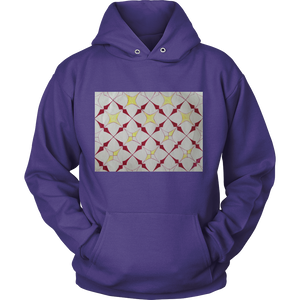 Hoodie- Unique Starburst Art Block Hoodie- Get Warm ON THE BLOCK - CoLyfeRaw Beauty