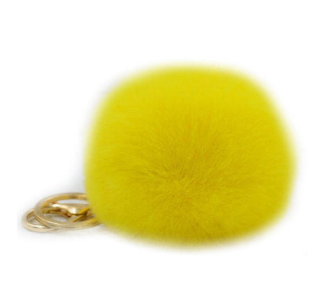 "Plush Keychain Pompoms 3"" -Faux fur- FREE! - CoLyfeRaw Beauty"