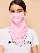 Multi Use Scarf & Face Mask Combination Made of 100 % Chiffon - BOMBSHELL BOOTY PILLOW