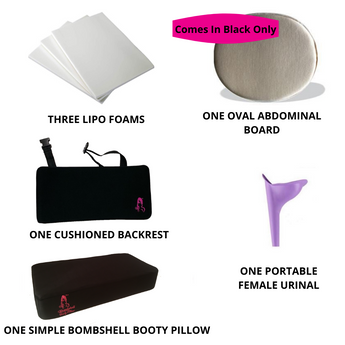 Simple Brazilian Butt Lift (BBL) Recovery Kit - bbl-pillow, BBL PILLOW - recovery pillow, BOMBSHELL BOOTY PILLOW, the official bbl pillow corp, BOMBSHELL BOOTY PILLOW - bombshell booty pillow