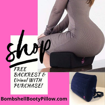 Bombshell Booty Pillow V3 Recovery Pillow & INFLATABLE Back Rest Combo - BOMBSHELL BOOTY PILLOW