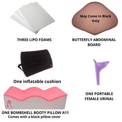 BBL Recovery Kit A11 with inflatable Backrest recovery kit - bbl-pillow,  - recovery pillow, BOMBSHELL BOOTY PILLOW, the official bbl pillow corp, BOMBSHELL BOOTY PILLOW - bombshell booty pillow