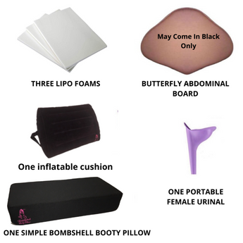 Bombshell Booty pillow with inflatable Backrest recovery kit - BOMBSHELL BOOTY PILLOW