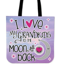 I LOVE MY GRANDKIDS TO THE MOON & BACK CLOTH BAG