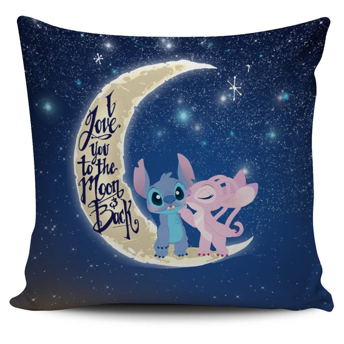 LOVE YOU TO THE MOON STITCH & ANGEL PILLOW COVER