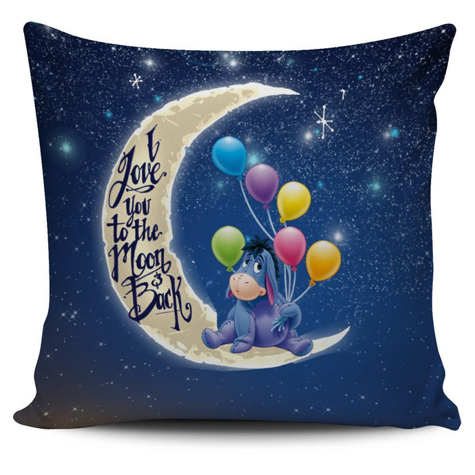 LOVE YOU TO THE MOON EEYORE PILLOW COVER