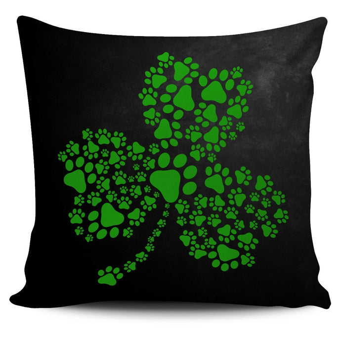 DOG PAW SHAMROCK PILLOW COVER