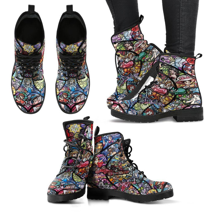HANDCRAFTED DISNEY CHARACTER MOSAIC BOOTS