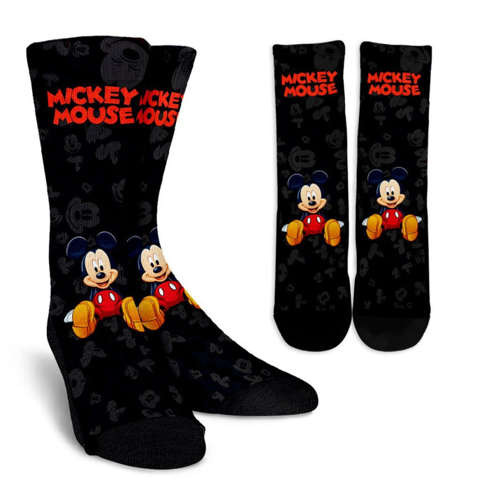 MICKEY BLACK SOCKS
