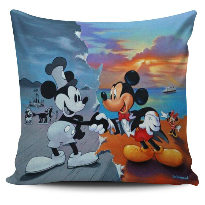 OLD VS NEW MICKEY PILLOW COVER