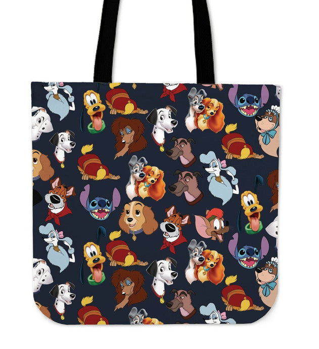 DISNEY DOG FACES CLOTH BAG