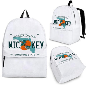 FLORIDA MICKEY LICENSE PLATE BACKPACK