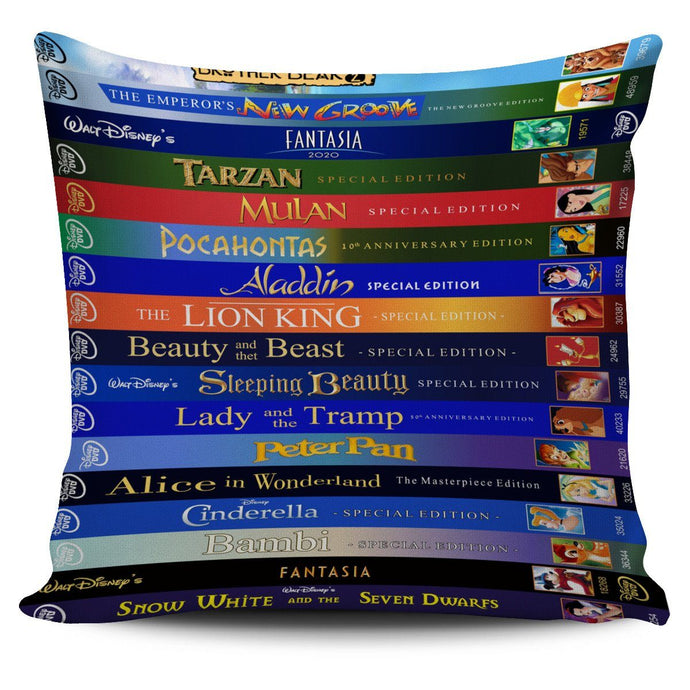 DISNEY VHS MOVIES PILLOW COVER